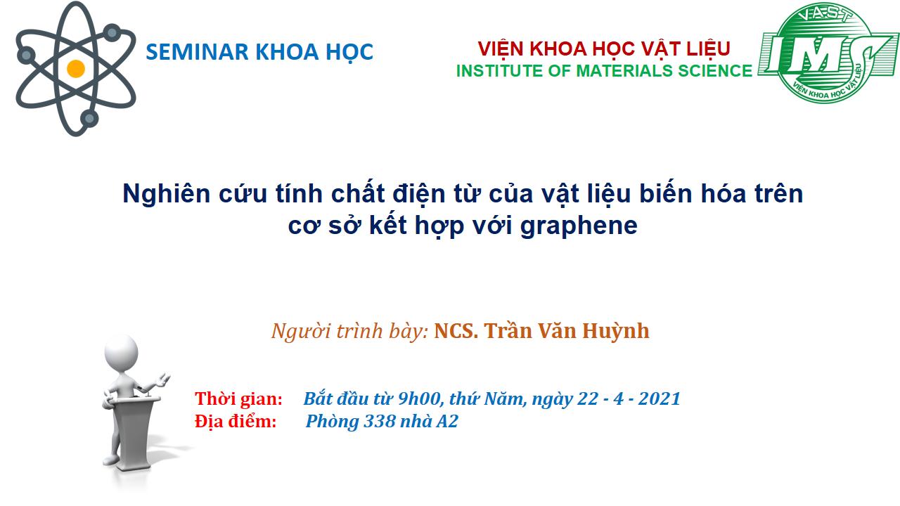 Seminar 22/4/2021 về: Nghiên cứu tính chất điện từ của vật liệu biến hóa trên cơ sở kết hợp với graphene