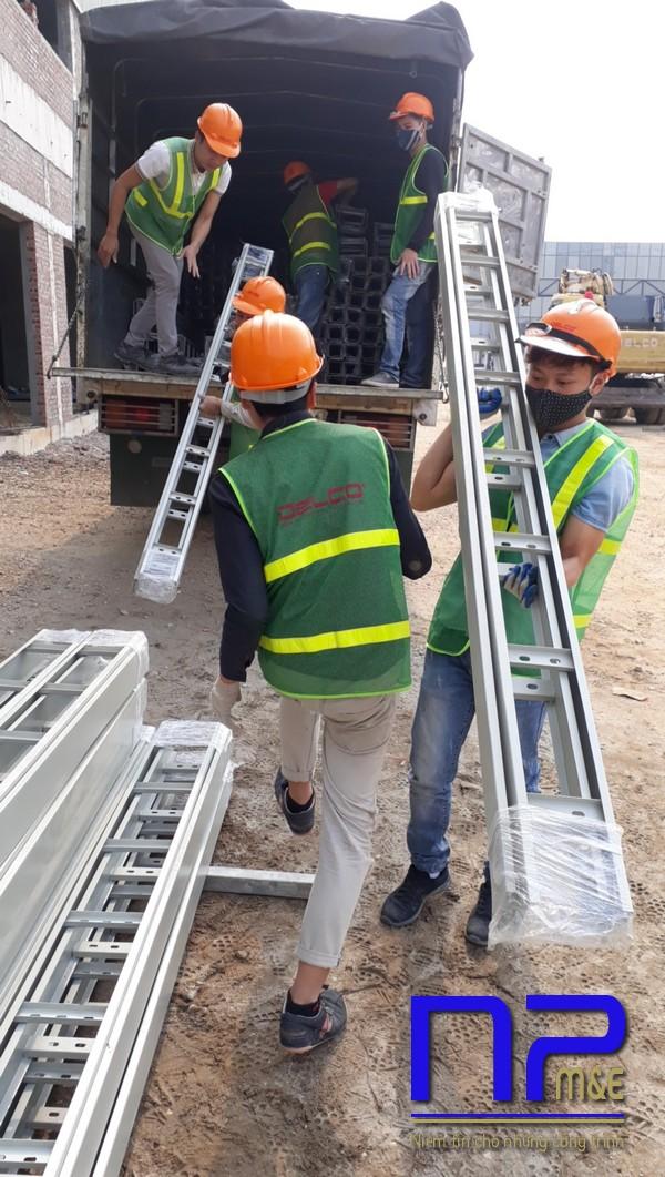 Thang cáp sơn tĩnh điện được ứng dụng nhiều trong các công trình