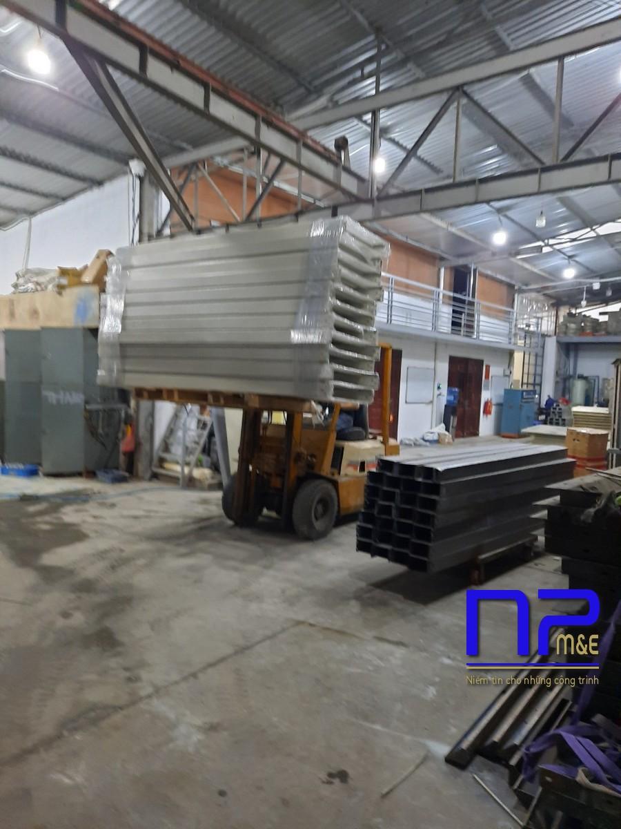 Thang cáp sơn tĩnh điện công trình Bắc Ninh3