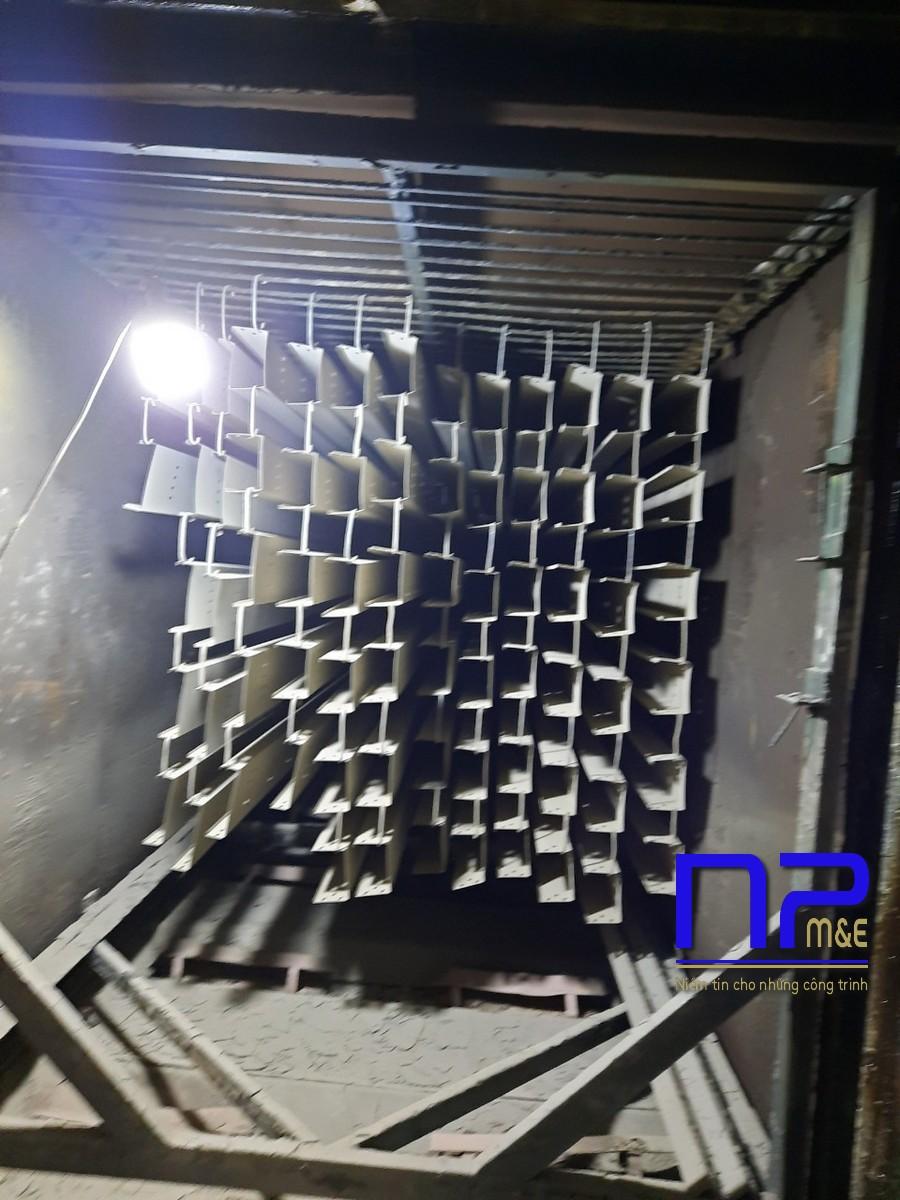 Thang cáp sơn tĩnh điện công trình Bắc Ninh1