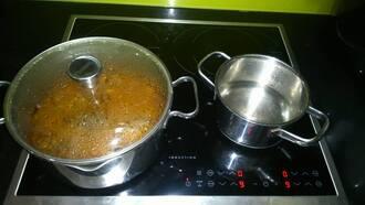 Bếp từ aeg dang sử dụng tự nhiên đun không nóng