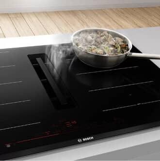 Bếp từ kèm hút mùi rất phổ biến ở các nước Châu Âu