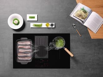 Bếp từ có nướng được không_bếp từ kết hợp lò nướng hút mùi