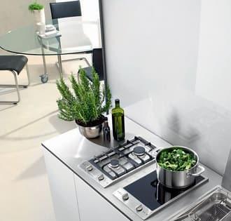 Hình ảnh bếp từ kết hợp với bếp gas gia đình