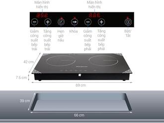 Các ký hiệu tắt trên bề mặt của bếp từ