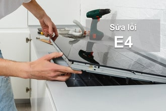 Nhận biết và sửalỗi e4 ở bếp từ