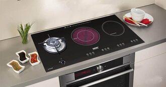Bếp từ kết hợp gas hồng ngoại kích thước bình thường