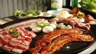 Thịt nướng trên bếp hồng ngoại thơm ngon