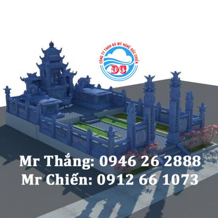 Mẫu thiết kế khu lăng mộ 3D - Đá mỹ nghệ Đức Chiến