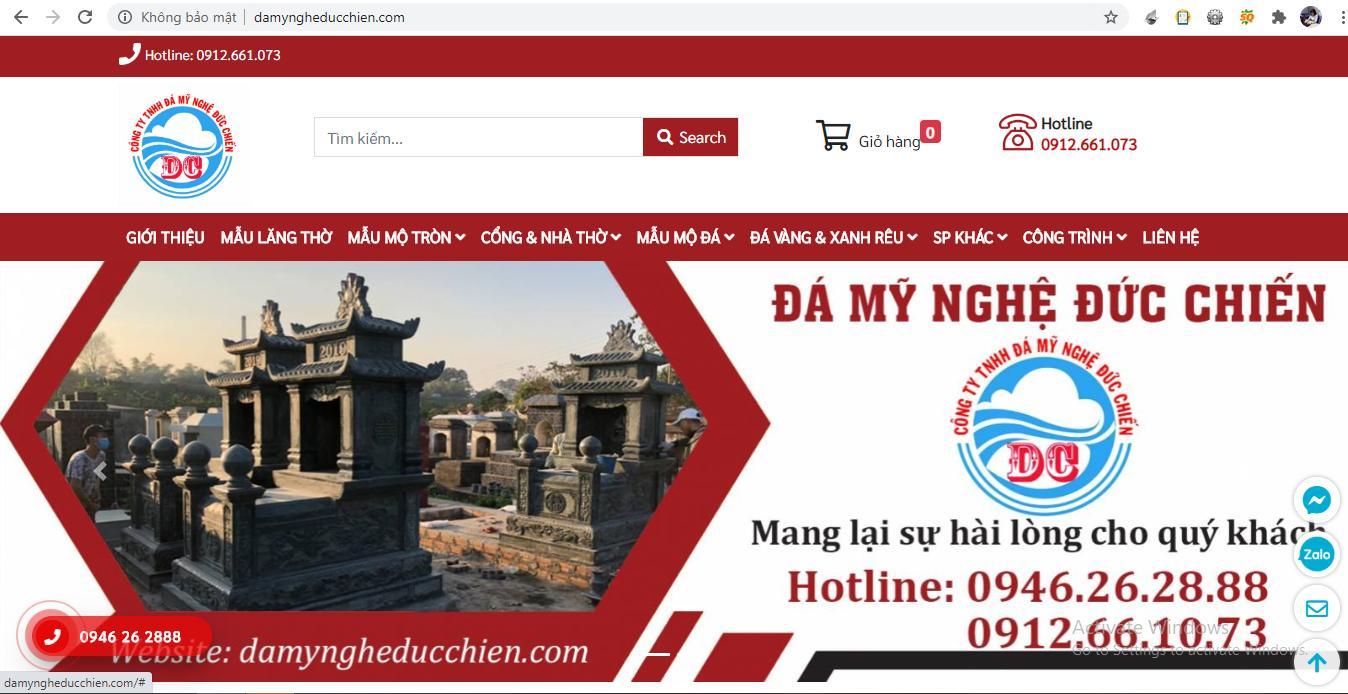 Website chính thức của Đá mỹ nghệ Đức Chiến