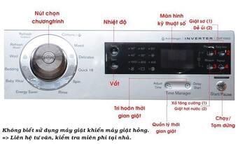 Không biết sử dụng khiến cho máy giặt sai chương trình