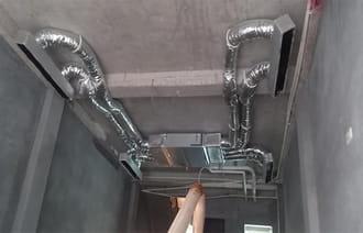 Điều hòa ống gió Mitsubsihi multi lắp cho biệt thự
