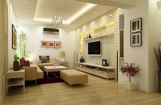 Lắp điều hòa treo tường phòng khách khu nhà liền kề