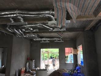 Lắp điều hòa ống gió cho tầng 1 của nhà cao tầng