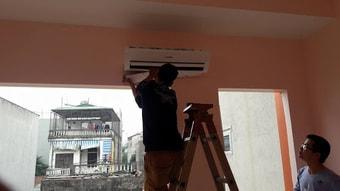 Tháo lắp máy điều hòa treo tường cho nhà ở dân cư