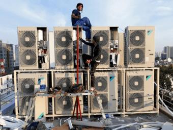 Lắp điều hòa multi Daikin cho nhà phố cao tầng